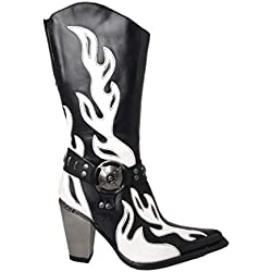Super Oferta NEW ROCK - Botas de Piel New Rock Originales M.7901-R2 Talla 39