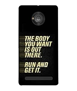 Fuson Designer Back Case Cover for YU Yunique (Fitness Body Workout Exercise Gym )