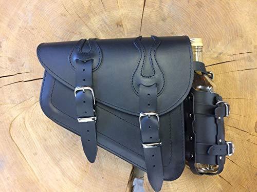 ORLETANOS Flame Black Seitentasche kompatibel mit Harley