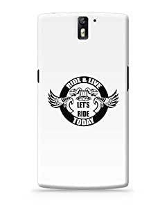 PosterGuy OnePlus One Case Cover - Live and Ride Today | Designed by: Pooja Bindal