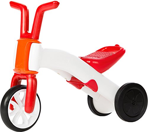 Chillafish BUNZI: 2-in-1 Gradual Balance Bike and Tricycle, Red