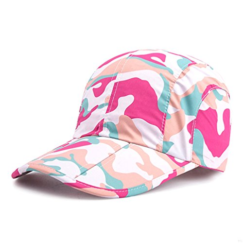 e7a45eed Pink Camo Hats,Camouflage Caps Breathable Running Quick Dry Folding Brim Hat  Under 10 UV Sun Protection Visor Sports Hats Adult Outdoor Fishing Golf ...