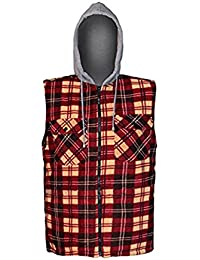 Mens Sleeveless Hoodie Padded Vest With Inside Lining