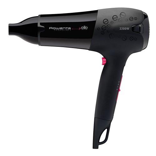 Rowenta Powerline Elite CV5012 2200W Negro - Secador de pelo (Negro, Con agujero en la empuñadura para colgar, 1,8 m, 2200 W, 108 pieza(s), 6 pieza(s))