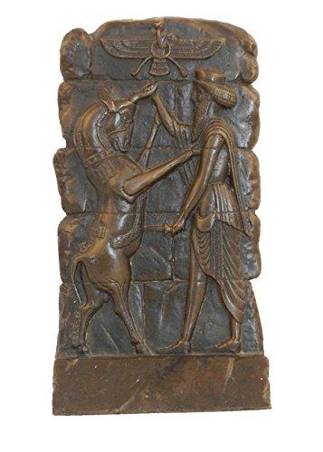 Toperkin Signed Original Desk Top Persian Empire Bas Relief Bronze Dekor TPY-847 - Skulptur Bas Relief