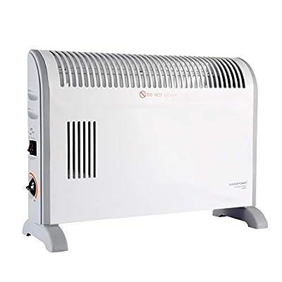 2000W Konvektionsofen mit Thermostat in weiß - Wandmontage oder freistehend von Donyer Direct auf Heizstrahler Onlineshop