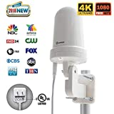 ANTOP Outdoor Tv Antenna Antop UFO 360Amplified Antenna Long Range Reception Omni Directional