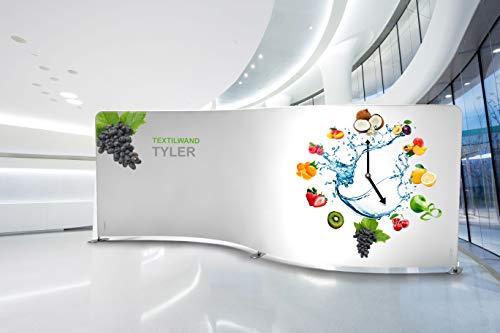 Messewand Tyler aus Textil inkl. 3x LED Halogenspots