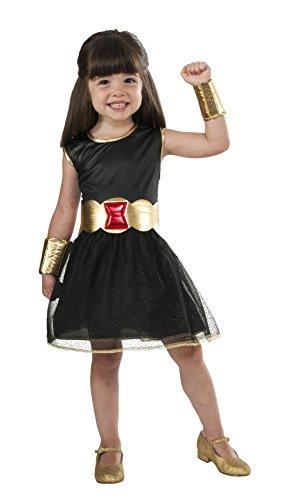 Rubie 's Offizielles Marvel Black Widow Tutu Kleid Mädchen Kostüm-Größe Medium (Marvel Black Widow Kostüm Großbritannien)
