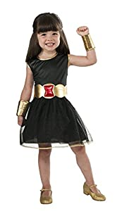 Rubies - Disfraz Oficial de tutú para niña de Marvel, Color Negro