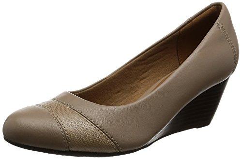 Clarks Brielle Tedoni zeppa scarpe Smart Sand