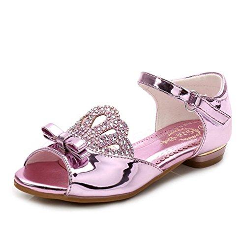 (Mädchen entzückbare Funkelnde Sandalen Krone Low Heels Prinzessin Kleider Schuhe (Kleinkind/Kleines Kind))