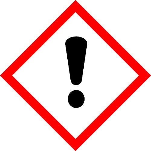 GHS Aufkleber - Achtung - 50 x 50 mm - 100 GHS-Etiketten, Polypropylen, permanent haftend - Gefahrensymbol GHS 07