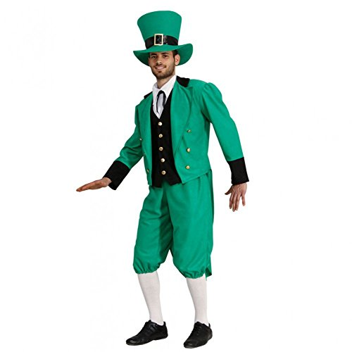 Kostüm Irischer Mann Anzug St. Patricks Day grün Glücksbringer Karneval (Large)