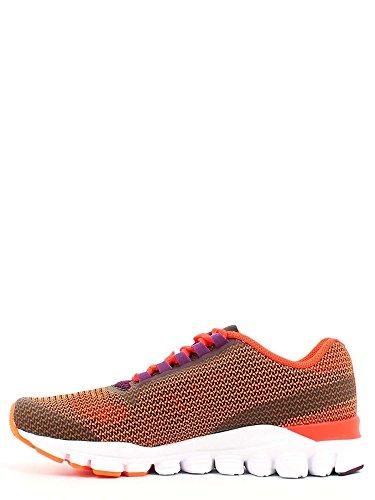 Reebok  Hexaffect Storm, Chaussures de sport d'extérieur pour femme 37 Orange / Rouge / Violet / Blanc (Elec Peach/Atom Red/Celstl Orchd/Wht)