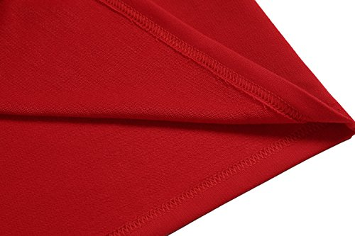 Coofandy Herren Poloshirt Langarm Elegante Regular Fit Langarmpolo für Männer Rot
