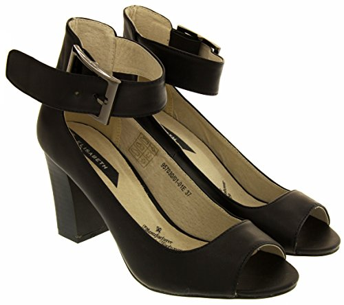 Elisabeth Donna Scarpa Cinturino alla Caviglia Nero