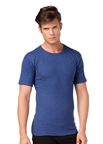 stylenmore Thermo-Unterhemd Kurzarm T-Shirt Thermounterwäsche Angeraut wärmend Größe XL, Farbe dunkelblau