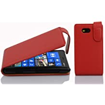 Cadorabo - Etui Housse Coque pour Nokia Lumia 820 en Flip Style - Case Cover Bumper Portefeuille en ROUGE CERISE