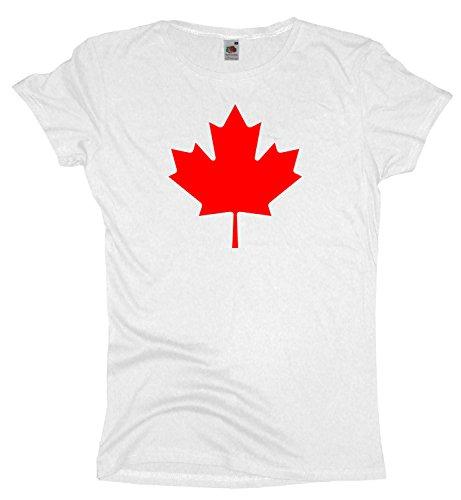 Ma2ca Canada | Leaf Red Damen T-Shirt | Kanada | Shirt-White-m (Unisex Kanada T-shirt)