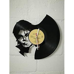 Wanduhr aus Vinyl Schallplattenuhr mit Michael Jackson Motiv upcycling design Uhr Wand-deko vintage-Uhr Wand-Dekoration…