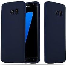 Cadorabo - Ultra Slim TPU Candy Etui Housse Gel (silicone) pour Samsung Galaxy S7 EDGE - Coque Case Cover Bumper en CANDY-BLEU-FONCÉ