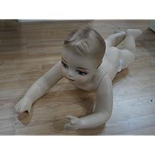 Maniqui de bebe infantil en color carne