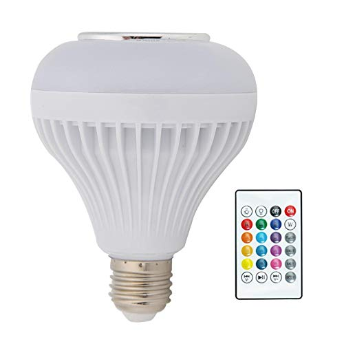 Starnearby Smart LED Light Bulb, WiFi Light Bulbs, Dimmable RGBW Colour Changing Light with Remote Control, E27 Wake Up Lights Smart LED Light Bulb