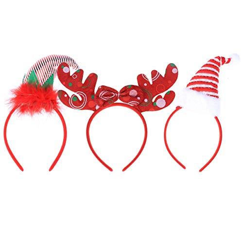 TOYMYTOY 3 Stück Weihnachten Stirnbänder Santa Claus Stirnbänder für Cosplay Christmas Party Supplies (Party Christmas Supplies)