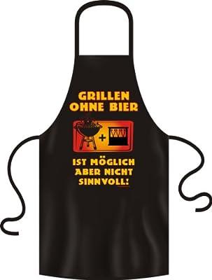 Original Rahmenlos ® Kochschürze / Grillschürze Grillen ohne Bier ist möglich aber nicht sinnvoll Top Geschenk als kleines Mitbringsel zum Grillen