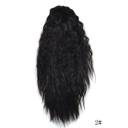 Rifuli® Perrücke Womens Claw Thick Wavy Curly Short Ponytail Horsetail Clip Hair Extensions 90er/80er jahre perücken - Schneiden Schwarzes Rohr