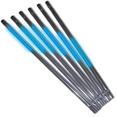 6 Knicklichter Strohhalme In Blau - Komplett-set Fabrikfrische Qualittsware Neueste Generation Unter Eigenem Label Produziert von KnickLichter.de