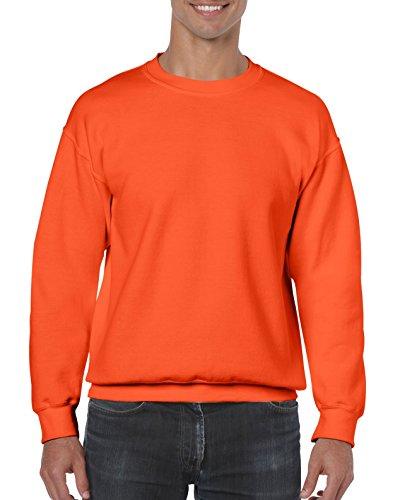 Gildan Sweatshirt, Melange Gr. X-Large, Orange Orange Logo Crew Neck Sweatshirt