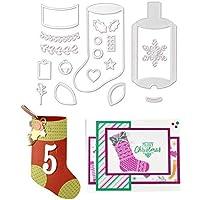 FunMove Navidad Copo de Nieve álbum de Navidad calcetín corazón Metal Troqueles Plantilla Scrapbooking Papel Foto