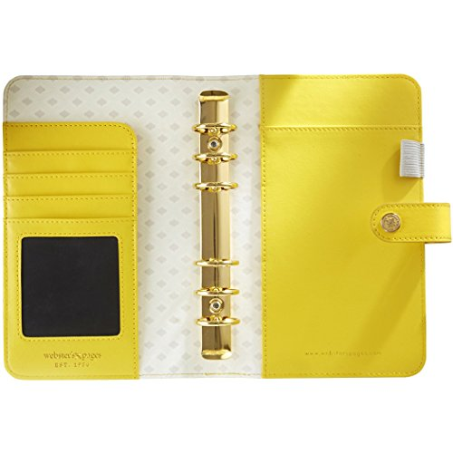 Cheapest Price for Webster's Pages Various Color Crush A2 Faux Leather Personal Planner 6-Ring Binder-Yellow on Amazon