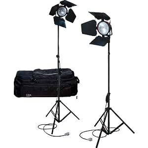 ISO L KIT MAN7 Kit 2 Mandarines + 2 Pieds d'éclairage + 2 Volets coupe-flux + 2 Lampes DXX 800W R7S + 1 Sac de transport