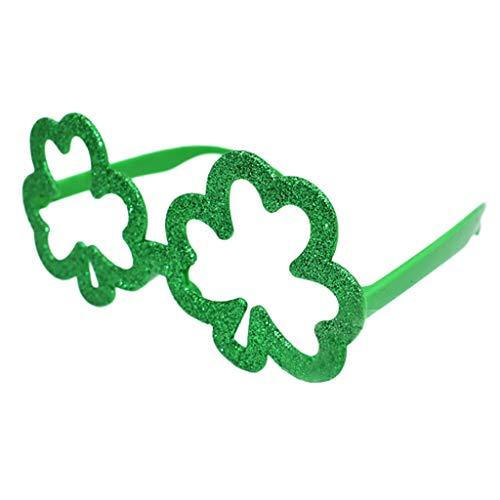 iCerber Irische erwachsene Festival-St Patrick Tagesgrün-lustige Klee-Grün-Klee-Gläser Spaßgläser Partei Requisiten Lustige Brille