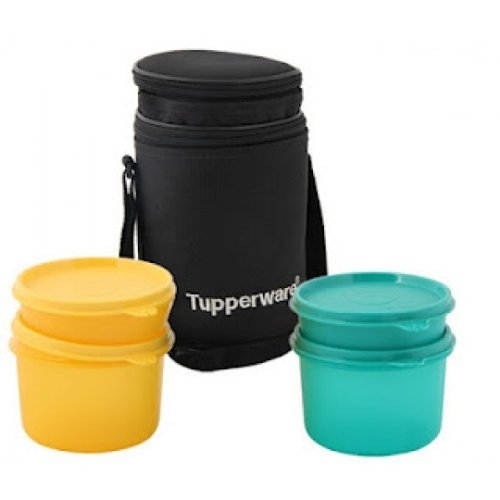 TUPPERWARE Esecutivo Lunch Box Borsa Termica piccola ciotola (2 grandi, 2 1)