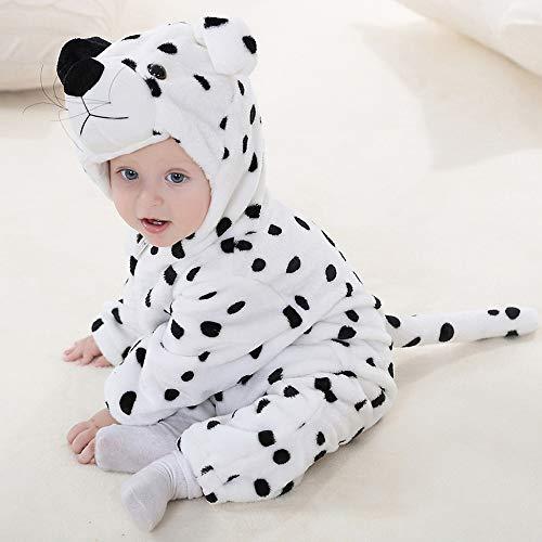 Kinder Unisex Onesies Pyjamas Mädchen Jungen Flanell Tier Sleepsuit Nachtwäsche Hoodie Halloween Kostüm Kleidung, Xmas Onesie Cosplay Party,Dog,70
