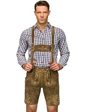 Lederhose H-Träger Beppo3 - urige Trachtenlederhose für gestandene Mannsleute mit Charakter, eine Trachtenhose...