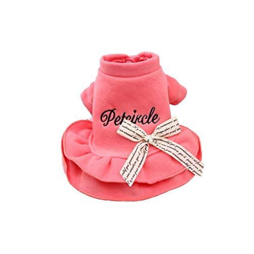 QLMS Frühlingsprinzessin-Kleidhaustier der Teddybärkleidung weiblicher Promi-Welpen Bomei, die warmen Welpen-Hundemantel des Sommer kleidet (Size : - Kostüm Der Promis