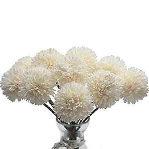 10 Flores Artificiales plástico de Seda para decoración de Novias, Ramo de Boda, hogar, jardín, Fiesta, Diente de león Artificial, de la Marca Meetu