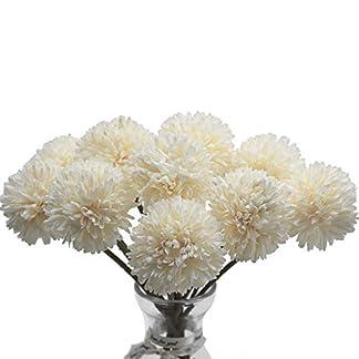 Meetu DIY Flores Artificiales, 10 Piezas de Flores Falsas Seda de plástico decoración de hortensias Artificiales para Ramo de Boda Nupcial Fiesta de jardín en casa
