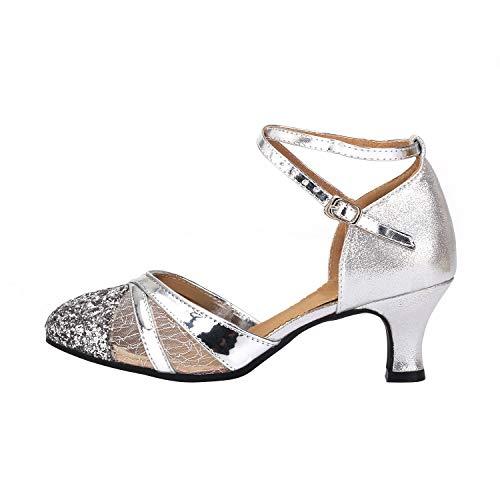 Mujer Zapatos Baile Salsa Latina - UNNIAO Dedo pie