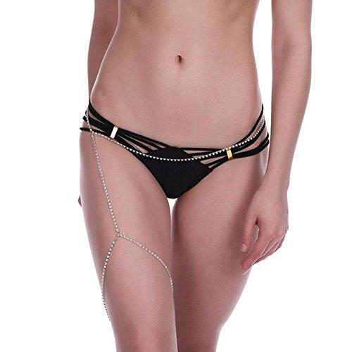 Bauch-Kette Frauen arbeiten Exaggeration Sexy Mehrschichtige Quasten-Körper-Kette mit Charme für Sexy Girls (Kaufen One Get zwei) (Rosa Herz Bauch Juwelen)