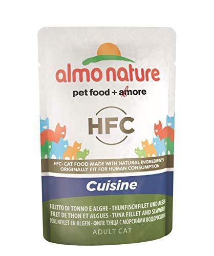 Almo Nature Classic cibo per gatti Cuisine tonno filetto e  alghe, (confezione da 24 x55g)
