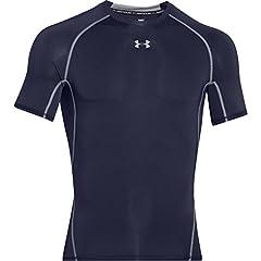 Idea Regalo - Under Armour, Ua Hg Armour Ss, Maglietta A Maniche Corte, Uomo, Blu (Midnight Navy/Steel 410), S