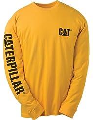 Caterpillar CAT 1510034 Bannière marques manches longues T-shirt Noir