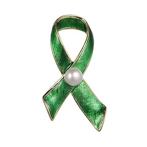 Wowen Brosche Pin Frauen New Fashion Jewelry Güteklasse 4A 7,5mm Pearl Grün Krawatte Brosche Pin