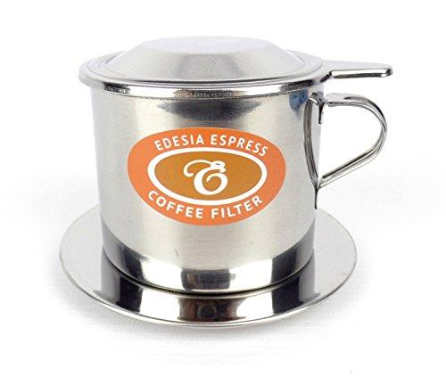 EDESIA ESPRESS - Vietnamesischer Kaffeefilter Ca Phe Phin - Edelstahl - Einsatz-Filter - Größe 8